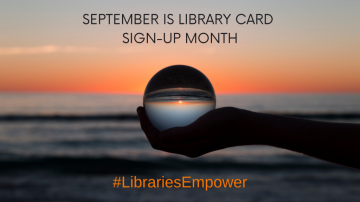 LIBRARY CARD SIGN-